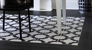 designer floor with black wood effect border