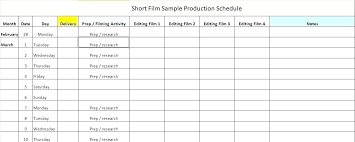 Film Production Calendar Template Film Production Calendar Template Hydrellatone Info