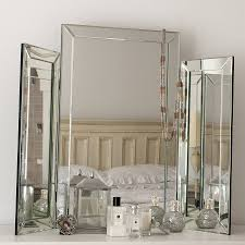 large bevelled dressing table triple mirror