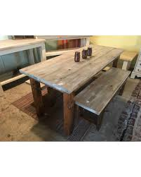 quotthe rustic furniture brings country. Rustic Farmhouse Table Set With Gray White Wash Includes Matching Benches, Provincial Brown Base, Quotthe Furniture Brings Country E