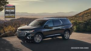 2019 traverse mid size suv side profile overlooking a landscape