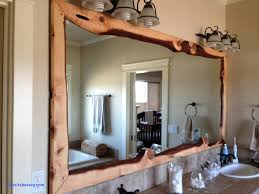 rustic wood framed mirrors. Wood Framed Mirrors New Bathroom Wall Mirror With Rustic Carbonized Pine Frame
