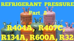 Gas Pressure Chart Gas Charging Pressure R404a R407c R134a R600a R32