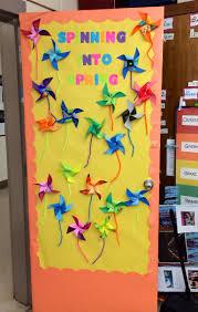 Spring classroom door decorations #spring #pinwheel #school