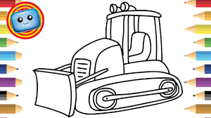 How To Draw A Bulldozer Colouring