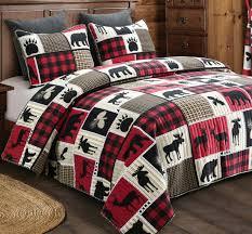 black bear forest 3pc king quilt set
