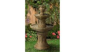 tuscan garden classic dark stone 41 1 2 high 3 tier fountain