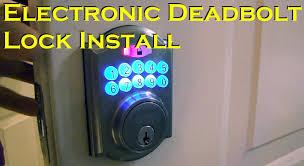 Door Knobs defiant door knobs : Electronic Deadbolt Door Lock Install - Defiant - YouTube