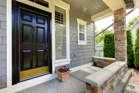 impressive designs red black. Decorating Impressive Front House Landscape Design Ideas With Red Cheerful Gray Exterior Paint Idea Black Door White Window Frames And Brown Stone Designs