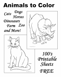 Small Picture Animal coloring pages sheets and pictures