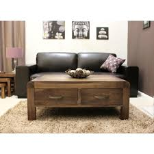 Walnut Furniture Living Room Shiro Coffee Table Four Drawer Storage Solid Walnut Dark Wood