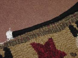 here s what the front side of your rug should be looking like at this point see how neat it s going to look when you re done