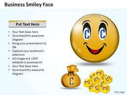 Marketing Ppt Template Business Smiley Face 3 Strategy