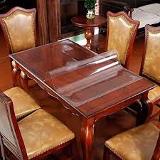 table protector kitchen dining room wood furniture cover clear plastic tablecloth cover mat wipeable easy to
