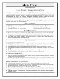 Resume Samples For Bank Teller With No Experience New Sampleplates