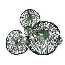 wall art decoratives accessories abaca wall art decorative lotus leaves in copper bas relief large metal green black 130 x 160 x 30 cm lotus  on lotus leaf wall art with wall art wall art decorative lotus leaves in copper bas relief large