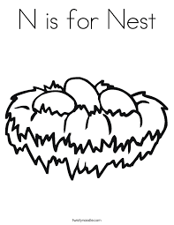 Small Picture N is for Nest Coloring Page Twisty Noodle