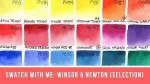 Winsor And Newton Cotman Color Chart Swatch With Me Winsor Newton And Cotman Watercolors Live Stream