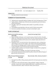 Medical Assistant Resume Objectives Medical Assistant Resume Objective Cliffordsphotography 40