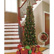 65u0027 Kingswood Fir Pencil Artificial Tree MultiColor Lights MSRP Kingswood Fir Pencil Christmas Tree