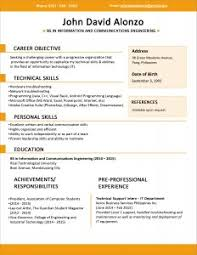 Examples Of Resumes 89 Exciting Example A Simple Resume Basic