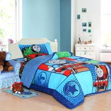 thomas toddler bed set train kids bedding set queen size cartoon blue children toddler bed sheets quilt duvet cover thomas and friends 4 piece toddler bed