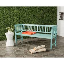 oriental outdoor furniture. Brentwood Outdoor Acacia Patio Bench In Oriental Blue Furniture