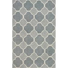 5 x 8 medium gray and blue rug infinity