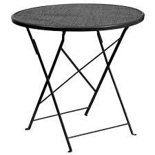 flash furniture 30 round indoor outdoor steel folding patio table ko
