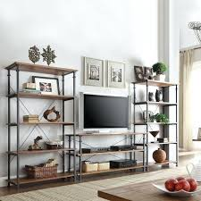 white rustic tv stand. tribecca home myra vintage industrial modern rustic tv stand and bookcase set corner with bookcases white small