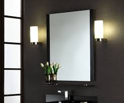 bathroom wall mirrors black