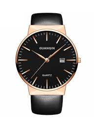 Shop <b>GUANQIN Men's</b> Water Resistant Formal Leather Analog ...