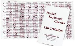 Details About Long Beach Music Pocket Piano Chord Reference Fingering Chart For Keyboard