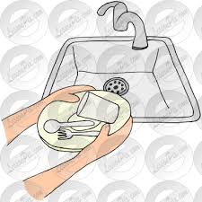 dishes in sink clipart. Delighful Dishes Clipart Black And White Picture For Classroom Therapy Use Great And Dishes In Sink Clipart