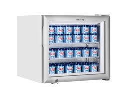 white glass door display freezer