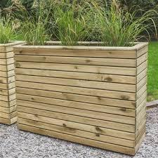 Forest Garden Linear Tall Wooden Planter 120 x 90cm
