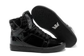 promotion skytop high top womens skate shoes black leather shoes the supra shoes