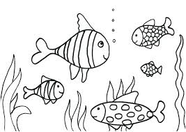 small fish coloring pages for kids le down by the sea