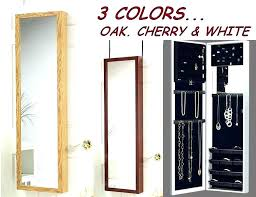 wall mounted jewelry case hanging mirror jewelry box wall mounted jewellery cabinet for