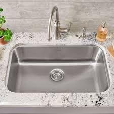 Stainless Steel Kitchen Sinks  KrausUSAcomSingle Drain Kitchen Sink Plumbing