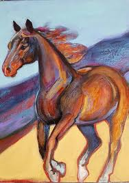 abstract horse painting southwest style canvas paintings resin horses southwestern style painted canvas painting canvas crafts horse