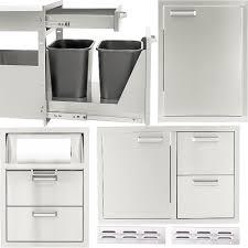 bbqguys com sonoma series 6 piece outdoor kitchen storage package bbq guys