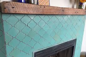 moroccan tile fireplace turq