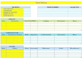Trip Planner Excel Travel Plan Template Excel Format Business Planner Yakult Co