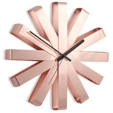 <b>Часы настенные</b> Umbra <b>RIBBON</b> медь — купить в интернет ...