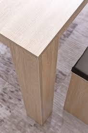 Wohnling Esszimmer Set Wl5927 Sonoma Eiche Esstisch Mit 2 Bänken Holz Modern Essgruppe Tischgruppe Küche Klein Esszimmergarnitur Sitzgruppe