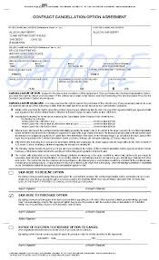 Purchase Contract Cancellation Agreement Template 164337 329X425 ...
