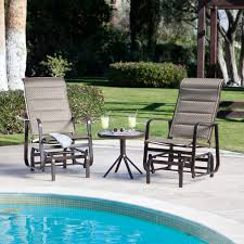 c coast del rey padded sling single glider set with free side table bronze com