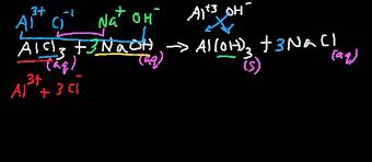 alcl3 naoh balanced chemical equation and net ionic equation