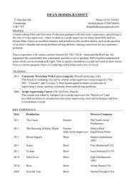 script supervisor resume producer editor script supervisor